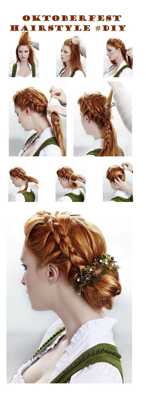 oktoberfest traditional inspired hairstyle diy hair