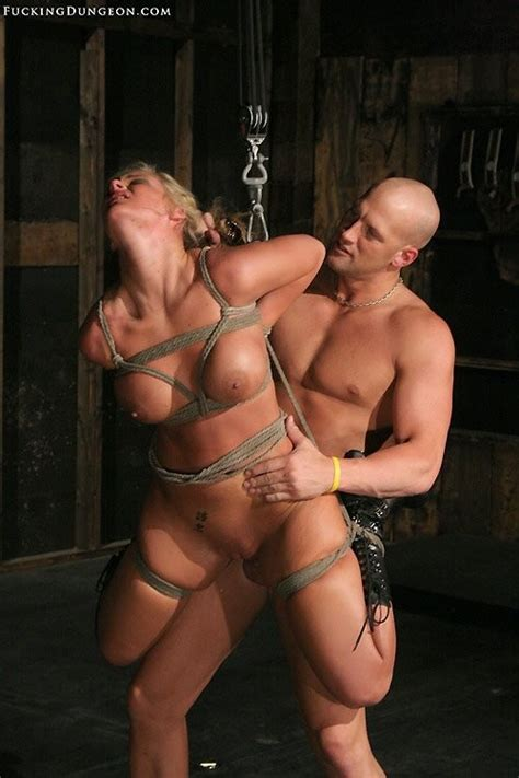 Luscious Blonde Having Rough Sex While She Gets Bondage