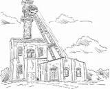 Coal Mine Clip Elevator Vector Tower Headgear Illustrations Illustration Similar sketch template