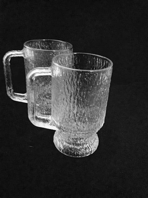 Besides good quality brands, you'll also find plenty of discounts when you shop for coffee glass mug during big sales. Vintage 1980's Heavy Large Textured Glass Mugs Indiana Glass Crystal Ice Winter Coffee Cider ...
