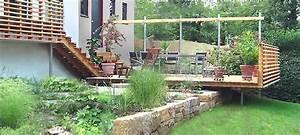 Natursteinmauer Selber Bauen : natursteinmauer mit holz nowaday garden ~ Michelbontemps.com Haus und Dekorationen