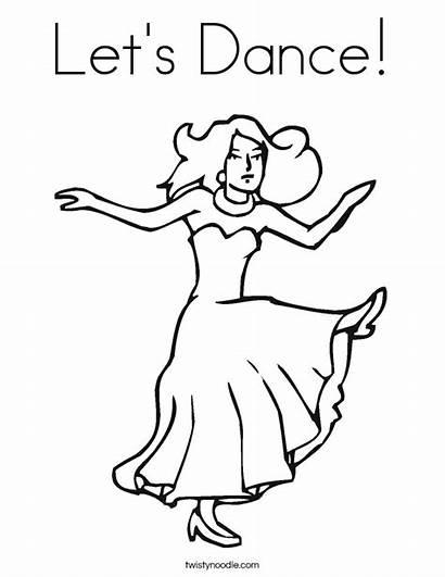 Coloring Dance Pages Dancing Sing Fun Jazz