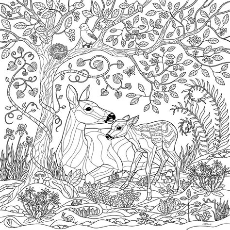 forest coloring pages deer forest coloring page digital by crista forest