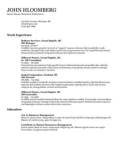 Chronological Resume By Hloom by 25 Unique Chronological Resume Template Ideas On