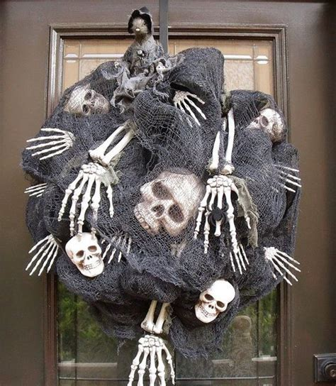 spooky halloween wreath designs  adorn