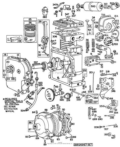 briggs  stratton    parts diagram  cyl