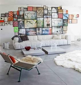Wanddeko Ideen Wohnzimmer : wohnzimmer wanddeko bilder fotowand skandinavischer stil fotowand pinterest ~ Markanthonyermac.com Haus und Dekorationen