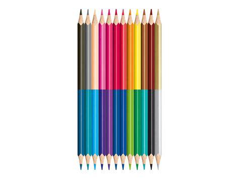 fourniture de bureau discount maped color 39 peps duo 12 crayons bicolores crayons de