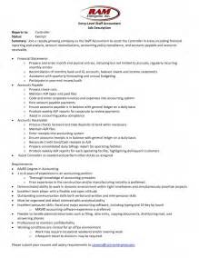 resume for entry level accounting position entry level accounting description resume template exle