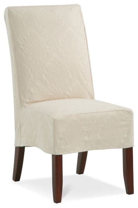 parsons slipcover chair pc contemporary dining