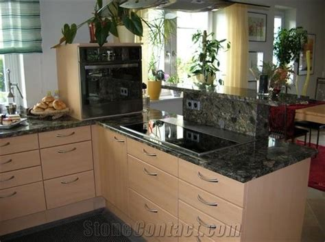 verde marinace granite countertop  austria