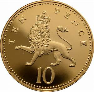 Gold Ten Pence Piece