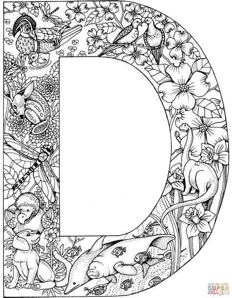 Kleurplaat Mandala Letter D by Elegante Kleurplaten Dieren Uitprinten Krijg Duizenden
