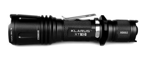 le tactique klarus xt10 820lumens le torche chasse puissante