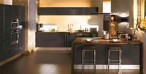 nos bonnes affaires moins 50 sur une cuisine hygena With sol beige quelle couleur pour les murs 5 carrelage marron un mur rouge des meubles blancs laques