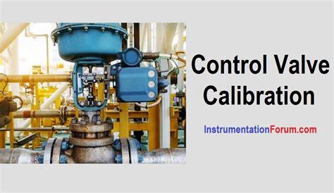 calibration  control valve calibration