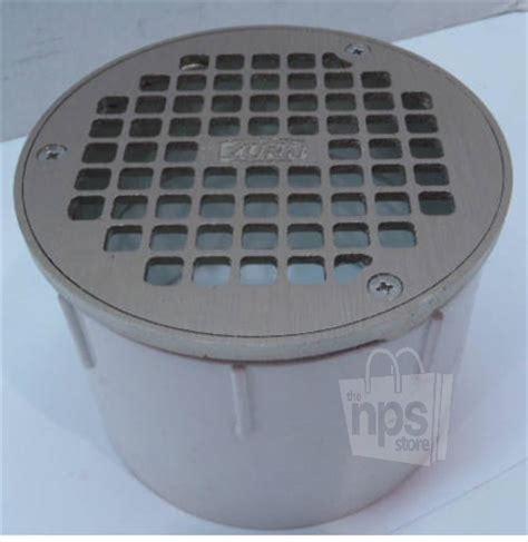 zurn bronze pvc 4 quot industrial grate drain floor cleanout assembly ebay