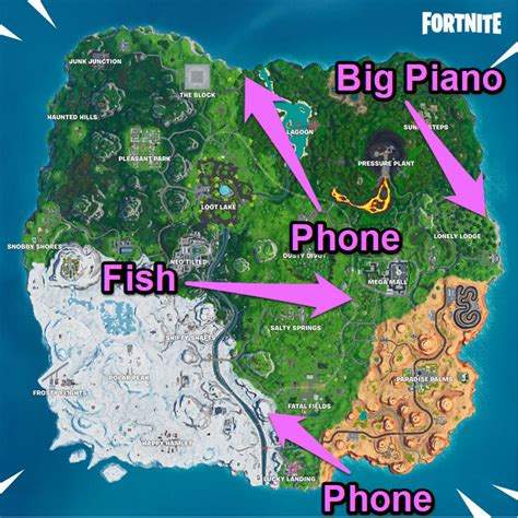 find fortnites phone piano  dancing fish trophy