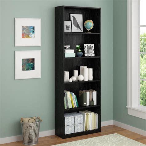 Black Bookcase altra furniture black ash open bookcase