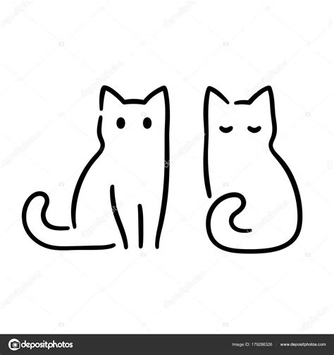 Dessin de chat noir dessin chat facile dessin rigolo dessin enfant dessin au crayon peinture dessin dessins amusants dessins simples dessin animaux mignons. Minime chat dessin — Image vectorielle Sudowoodo © #179286326