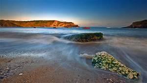 Full HD Wallpaper tide stone bay denmark sea, Desktop