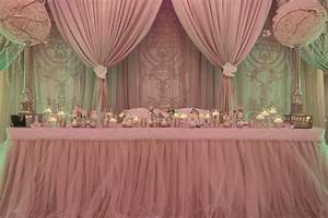 Draped backdrop dusty rose light pink wedding decor for Backdrop decoration for wedding