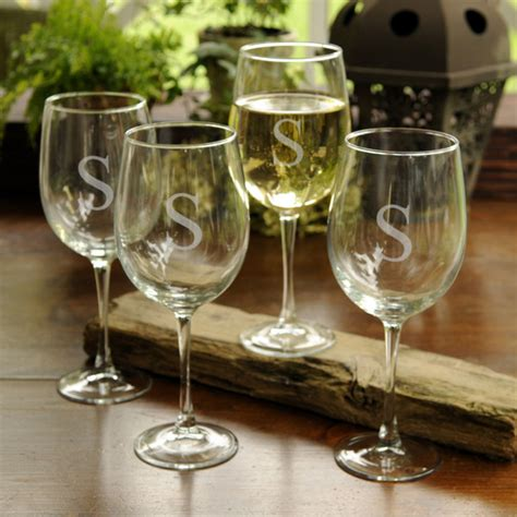 Personalized Barware Glasses - best personalized wine accessories housewarming gifts