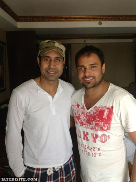 Binnu Dhillon And Amrinder Gill In White Shirt