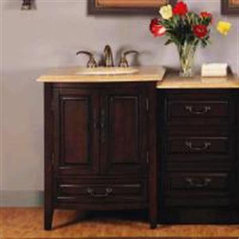 45 inch single sink bathroom vanity with peach granite