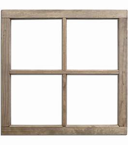 Salvaged 4 Pane Weathered Wood Window Frame | Jo-Ann