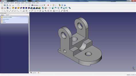 freecad tutorial  lagerbock youtube
