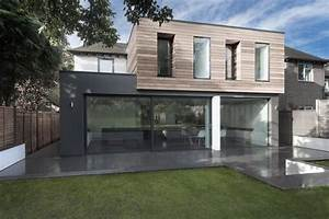 glass and timber addition to a 1950s hampshire house by With decoration bois exterieur jardin 11 transformer maison traditionnelle en maison contemporaine