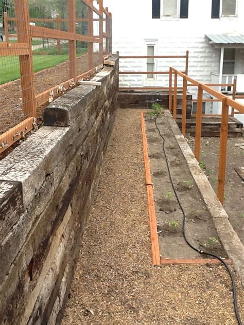 15 Best Images About Railroad Tie Retaining Wall On Pinterest