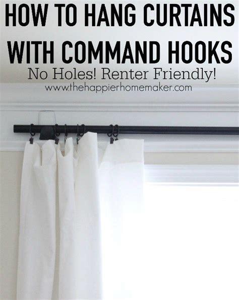 hang curtains  command hooks   sheer