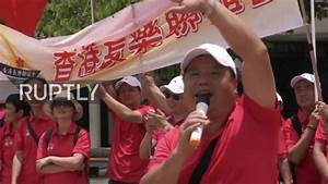 Hong Kong: Chinese patriots celebrate Xi's arrival for ...