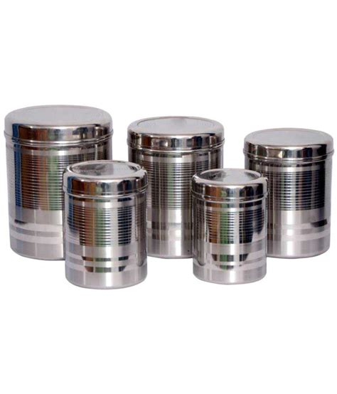 stainless steel kitchen storage containers india tactware kitchen storage stainless steel food container 9411