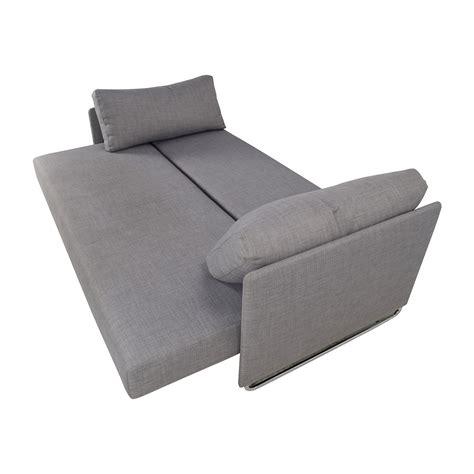grey sectional sleeper sofa 50 off cb2 cb2 tandom grey sleeper sofa sofas