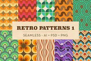 1950s Retro Seamless Patterns ~ Graphic Patterns ...