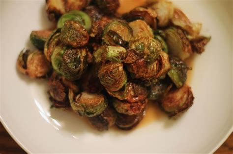 gastrique cuisine fried sprouts with apple gastrique back on track