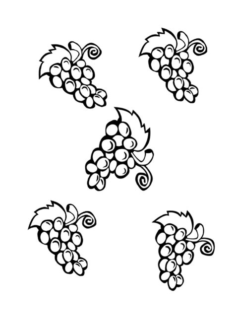 grapes template printable
