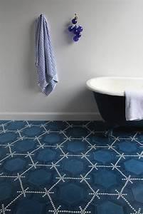 Carrelage Tendance 2018 : carrelage hexagonal bleu id e votre maison 2019 ~ Melissatoandfro.com Idées de Décoration