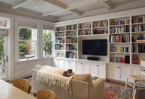 built  living room cabinets traditional living room gast architects