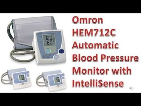 Omron HEM 712C Automatic Blood Pressure Monitor with