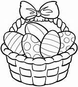 Easter Basket Coloring Pages Printable Print Getcolorings sketch template