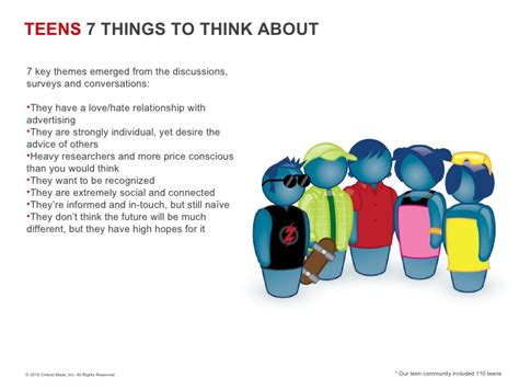Teens 7 Things To Think