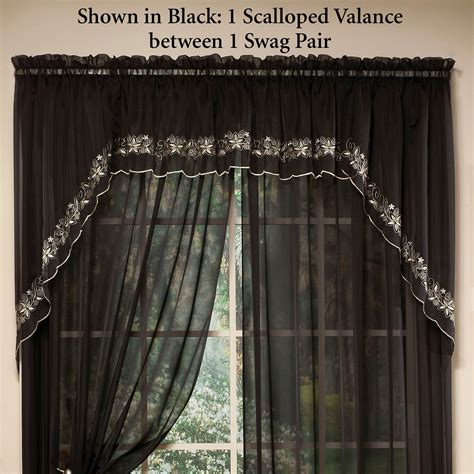 Emelia Sheer Voile Curtains by Emelia Embroidered Sheer Voile Window Treatment