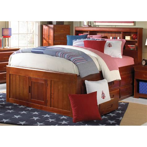 Bookcase Headboard Bed by Donco Bookcase Bed Merlot Bookcase Beds At Hayneedle