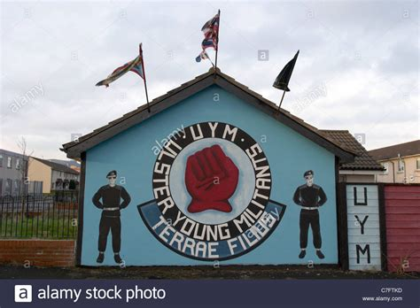 Uym Ulster Young Militants Loyalist Wall Mural Painting. Pathological Signs. Lobby Signs. Advent Wreath Banners. Groom Lettering. Valley Fever Signs. Queens Murals. Digital Marketing Banners. Sponsor Banners