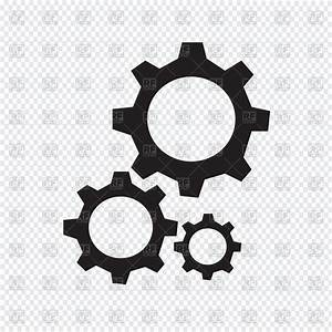 Gear Icon On Transparent Background Vector Image Vector