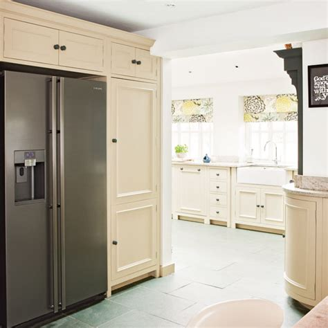 Welcome to the bray & scarff appliance & kitchen specialists website! Kitchen with fridge-freezer | Cream kitchen design idea ...